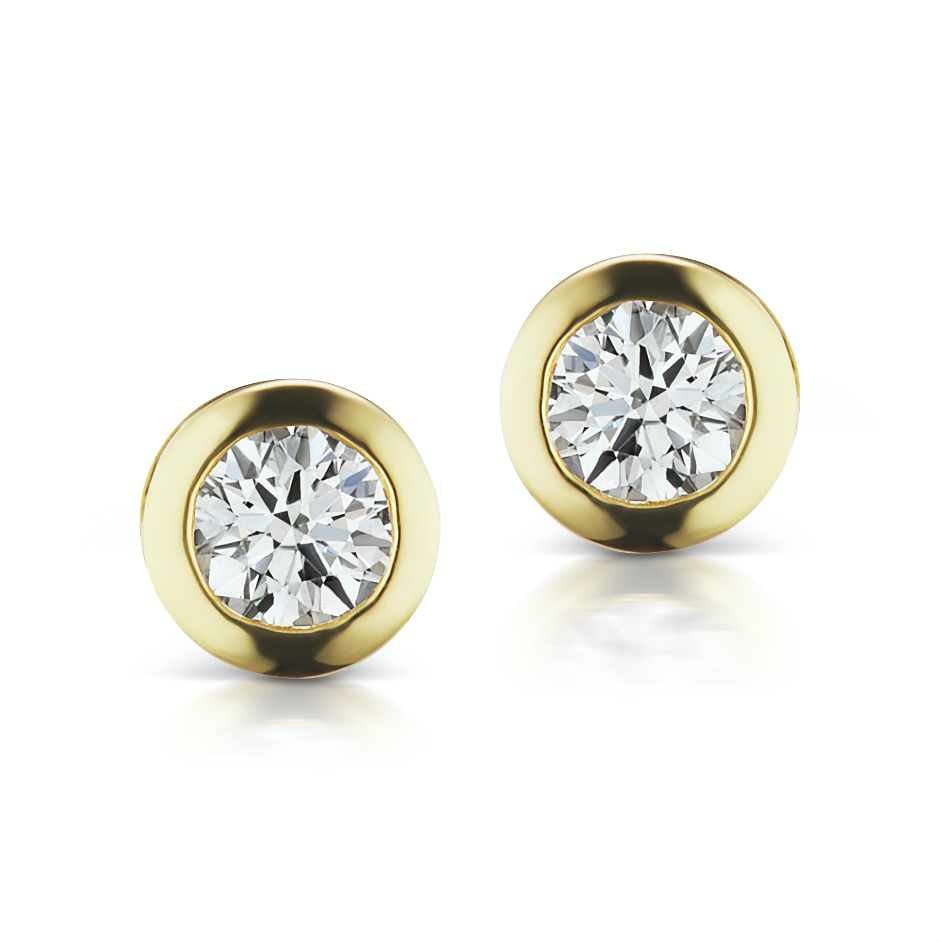 The Gold Diamond Confetti Studs