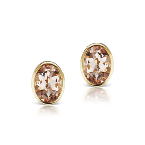 The Morganite Mimi Studs