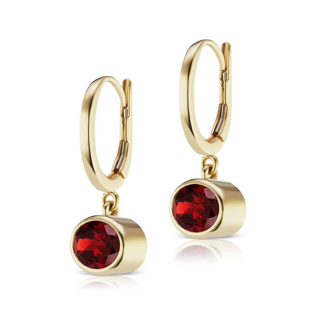 The Garnet Janet Bell Earrings