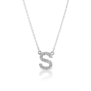 The Gold Diamond Initial Necklace