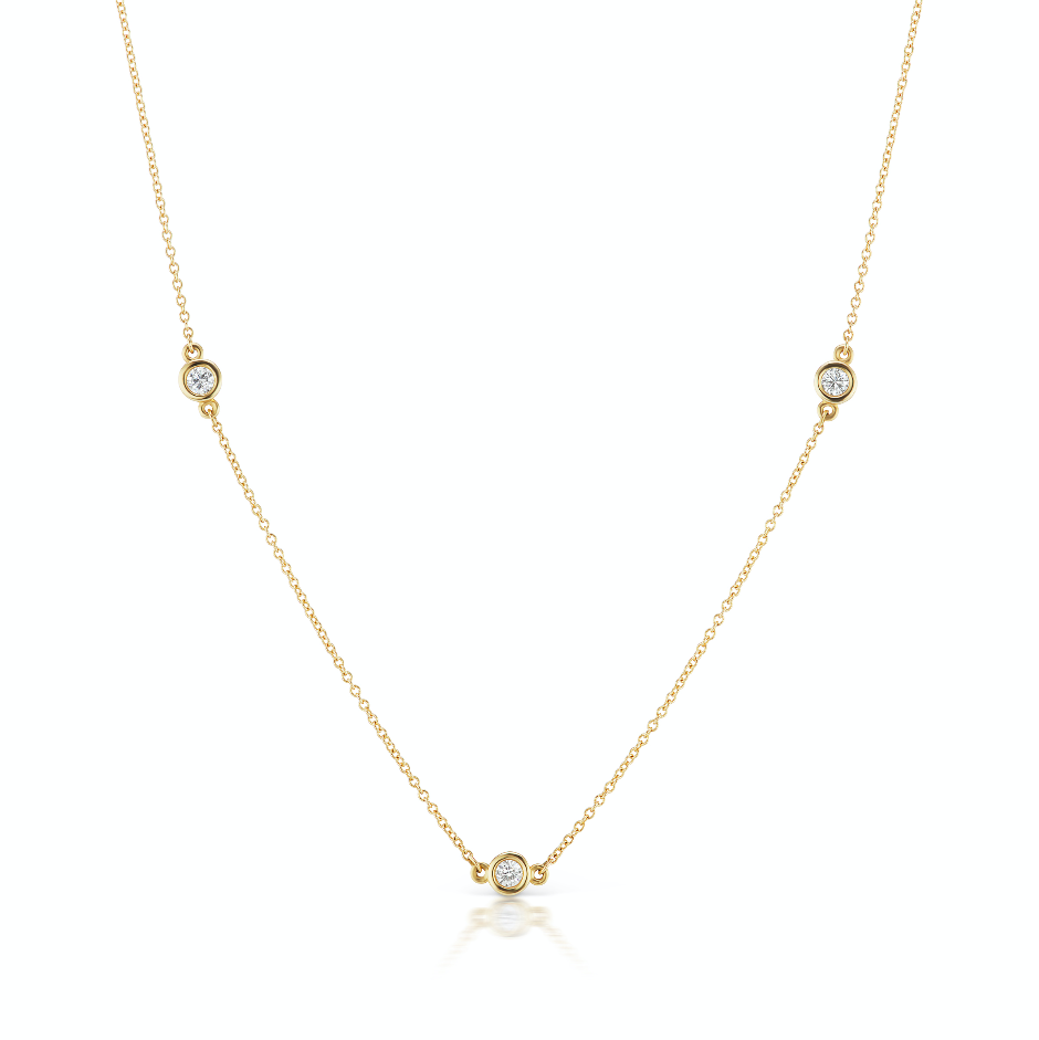 The Gold Three Diamond Confetti Necklace