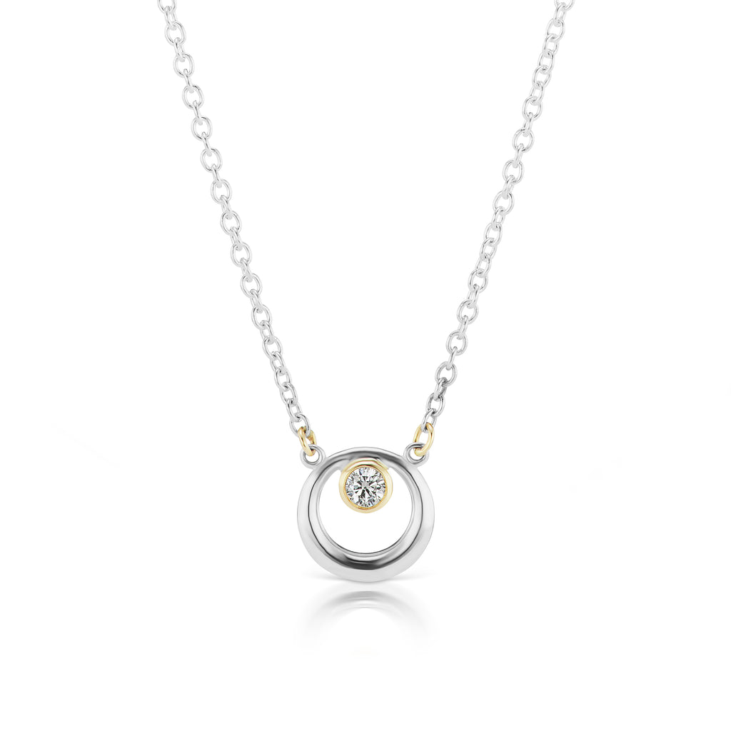 The Silver Everyday Diamond Necklace