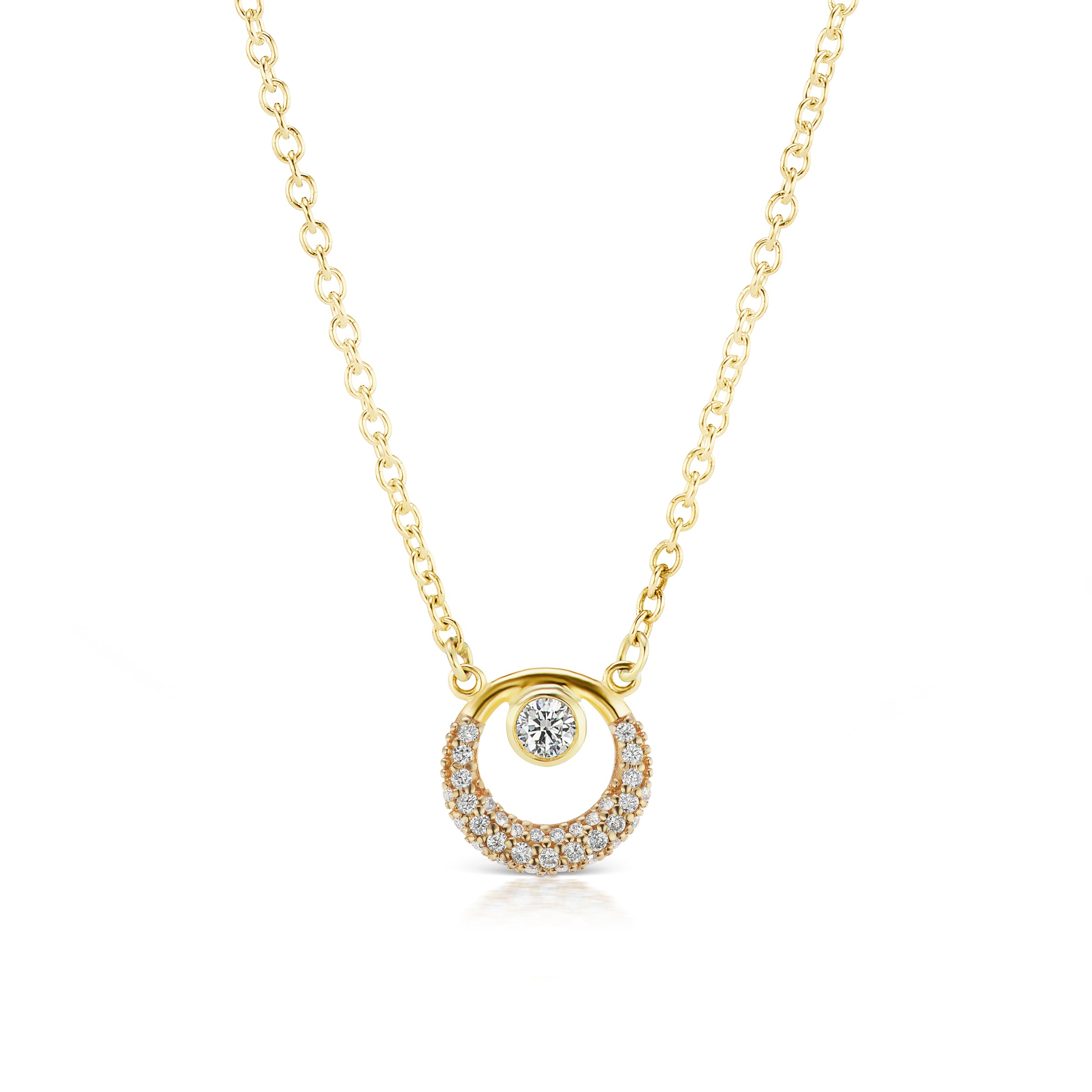 The Gold Pave Everyday Diamond Necklace