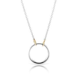 The Silver Petite Loop Necklace