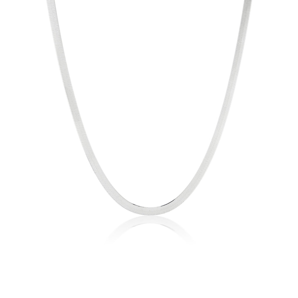 The Silver Herringbone Necklace