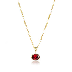 The Garnet Amber Necklace