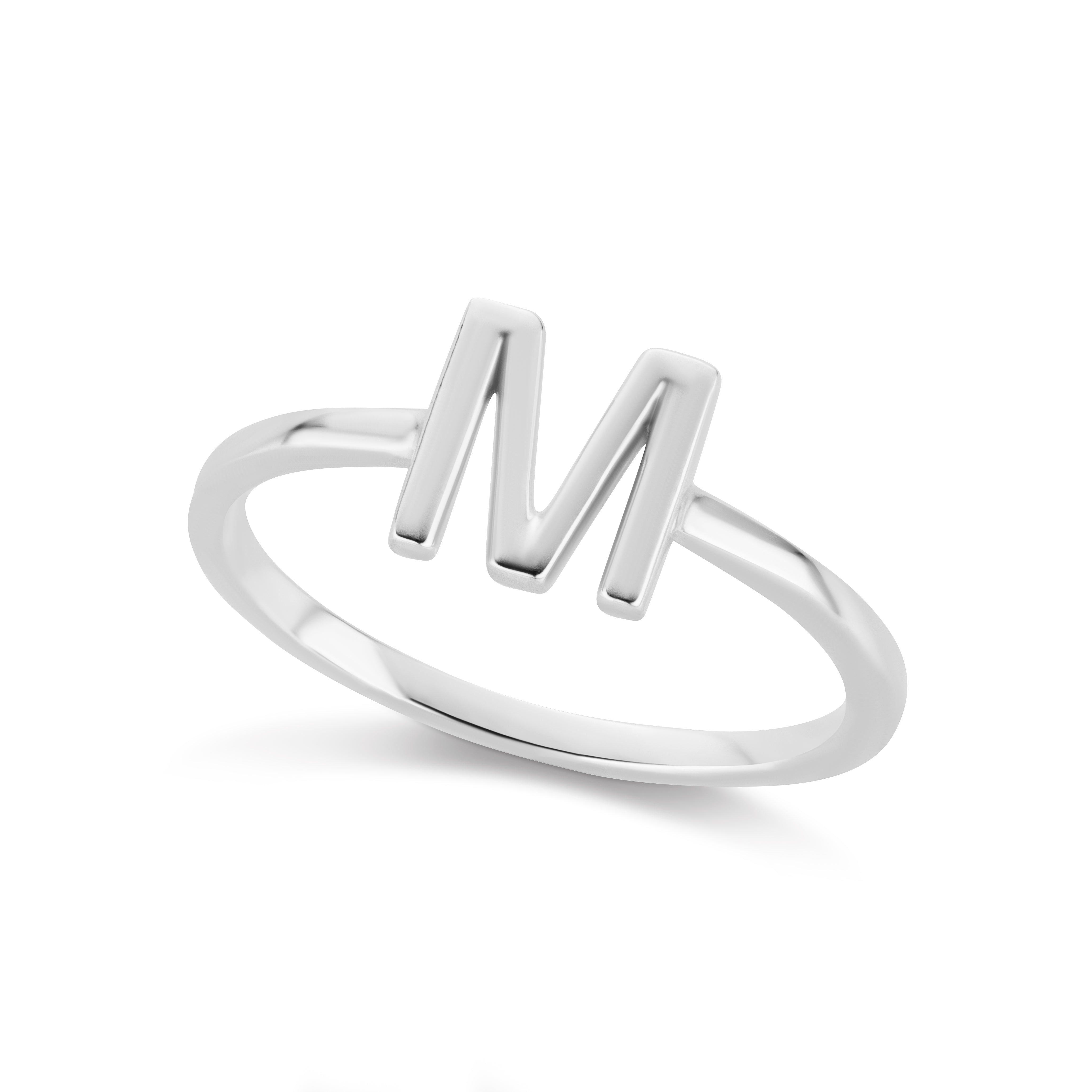 The Silver Initial Ring