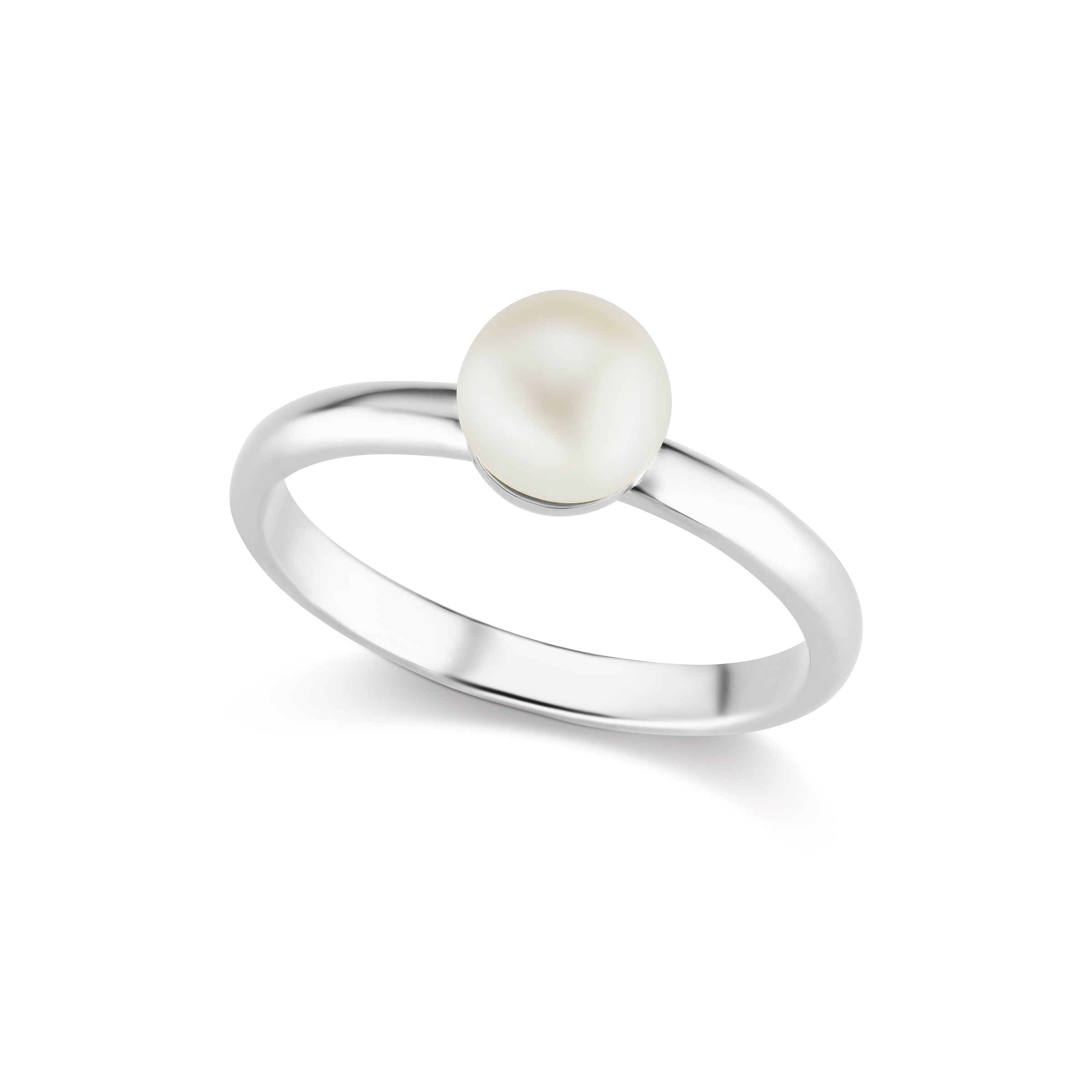 The Silver Single Pearl Ring