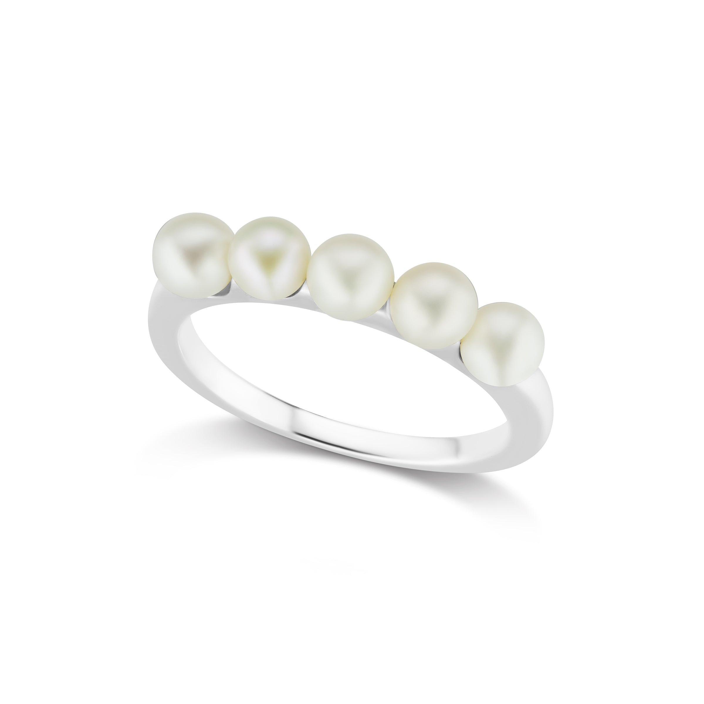 The Silver Multi Pearl Ring