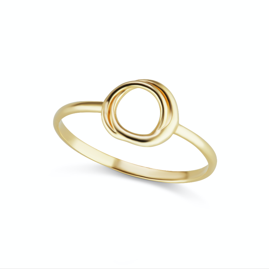 The Gold Encircle Ring