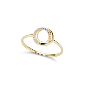 The Gold Pavé Encircle Ring