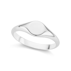 The Silver Petite Signet Ring