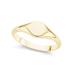 The Gold Petite Signet Ring