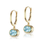 The Aquamarine Janet Bell Earrings
