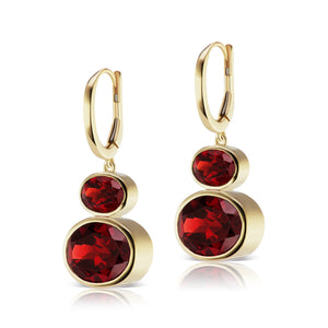 The Garnet Shell Bell Earrings