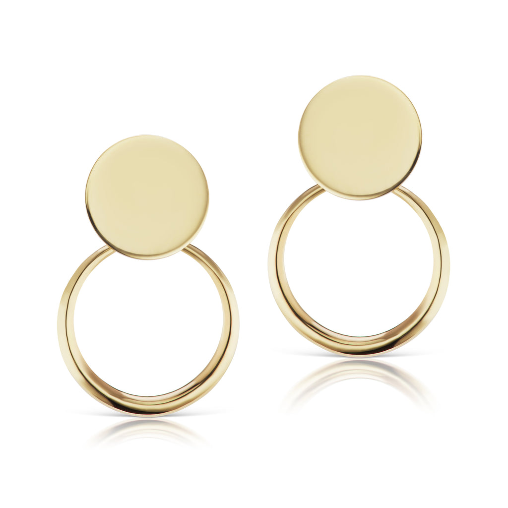 The Gold Petite Doorknocker Earrings