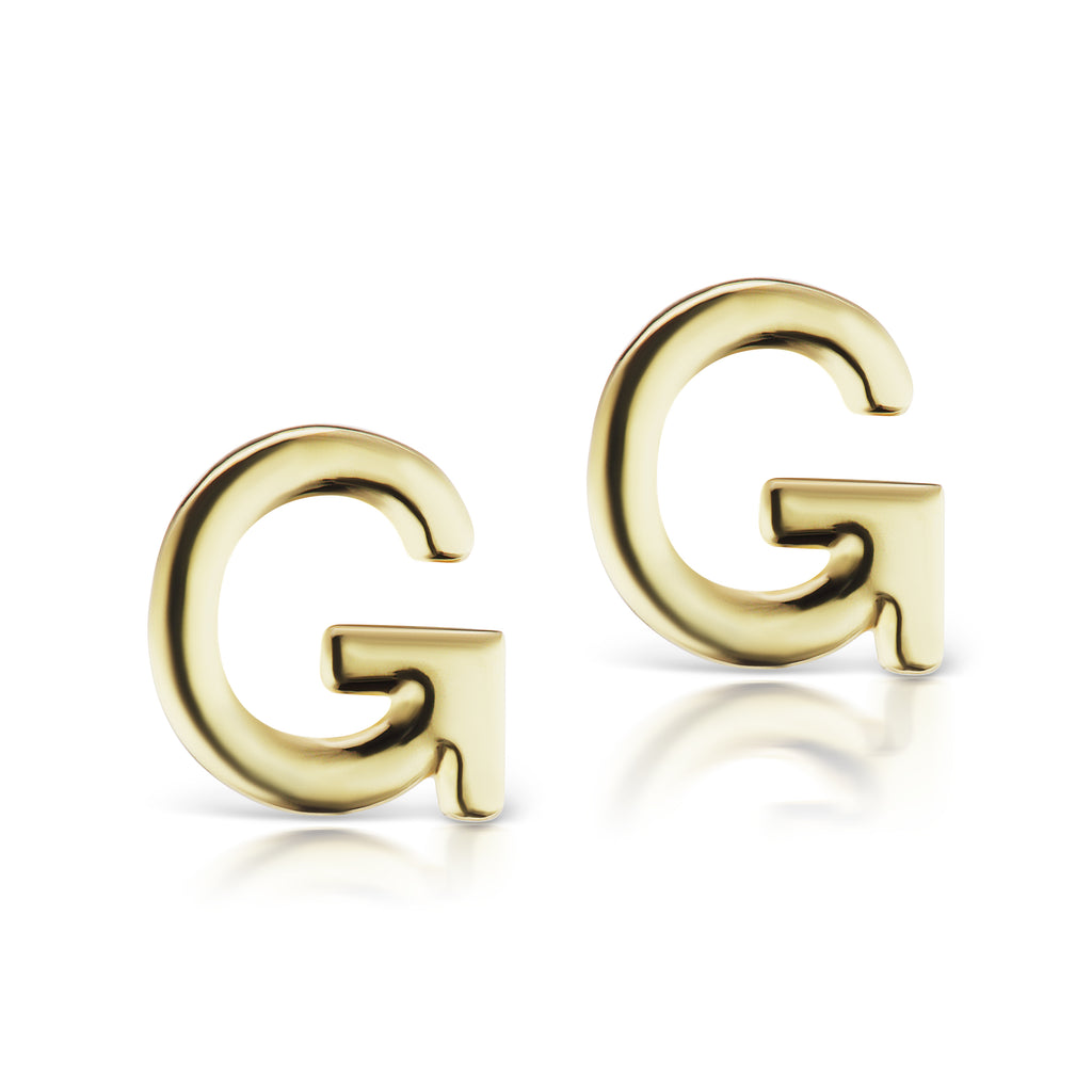 The Gold Initial Earrings (Single)