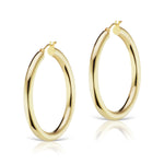 The Gold Large Hollow Hoop