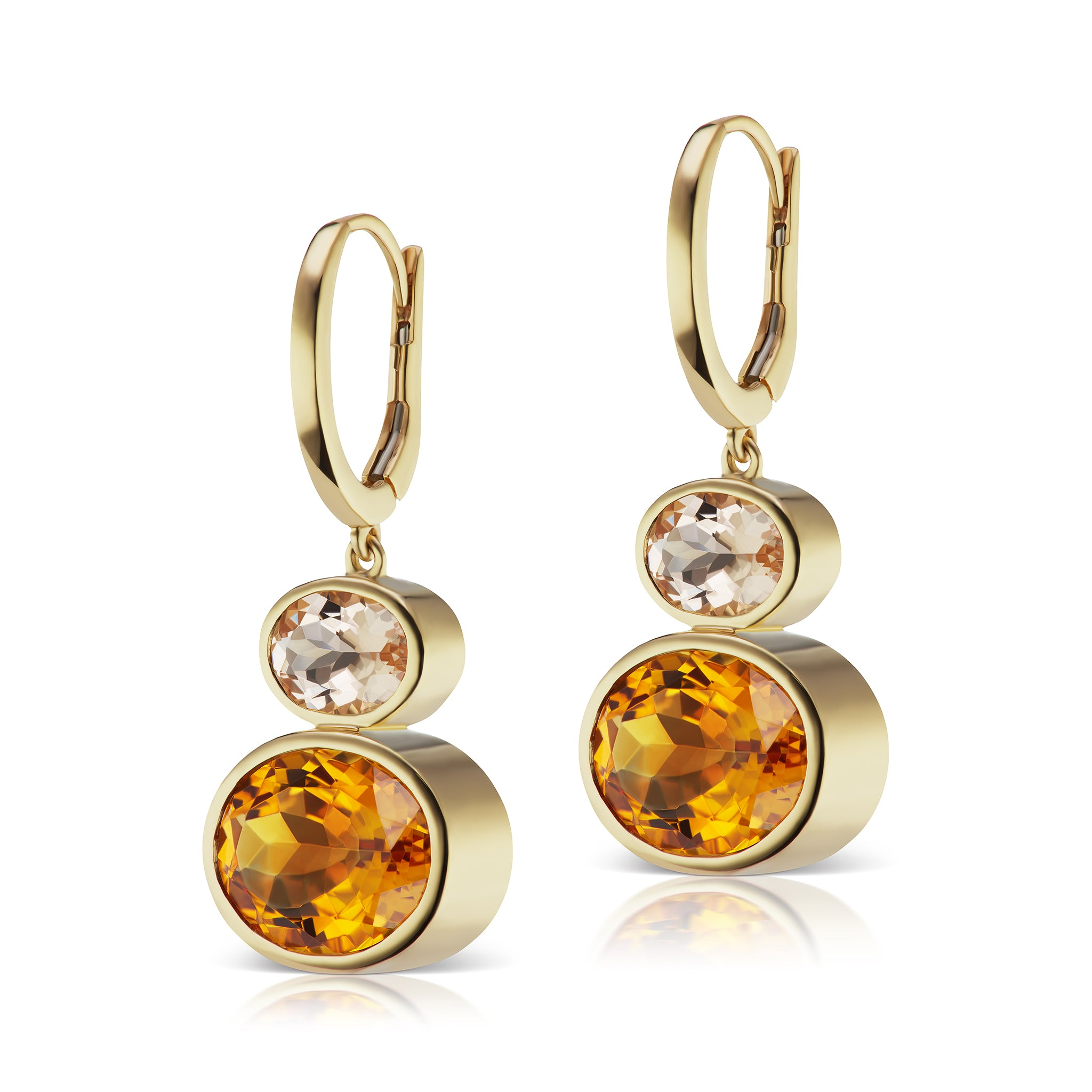 The Citrine Shell Bell Earrings