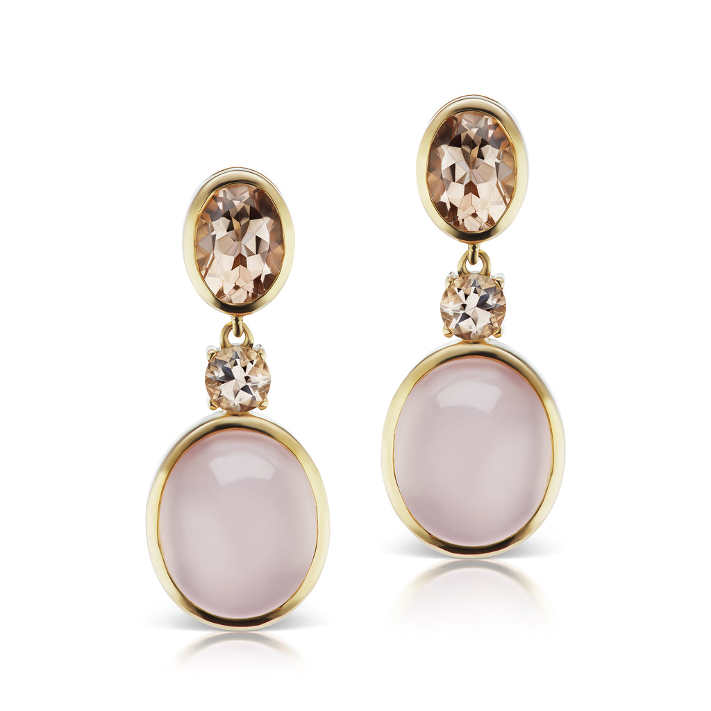 The Morganite Rose Earrings