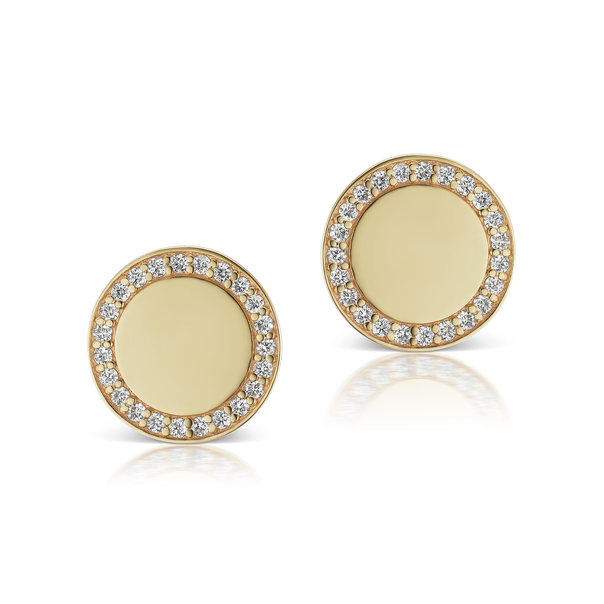 The Gold Signature Pave Stud
