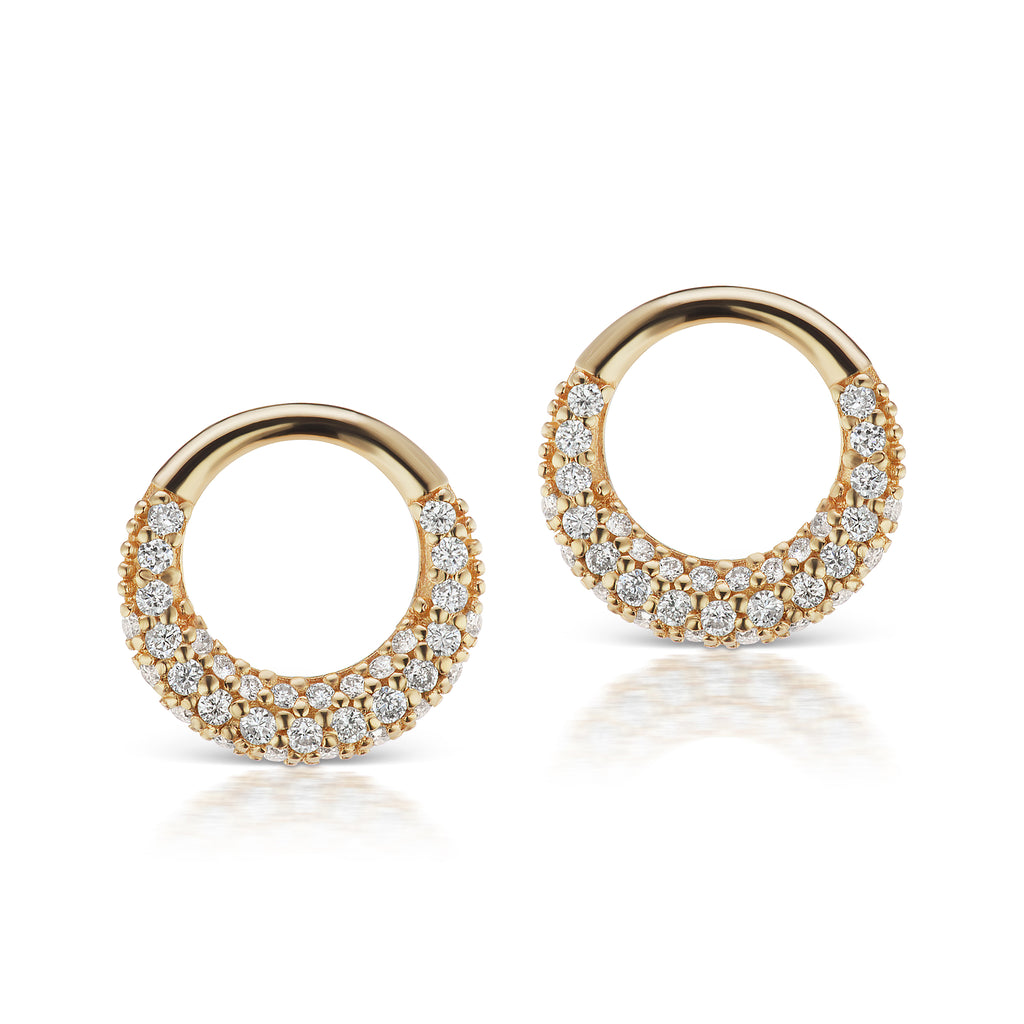 The Gold Petite Diamond Loop Earring