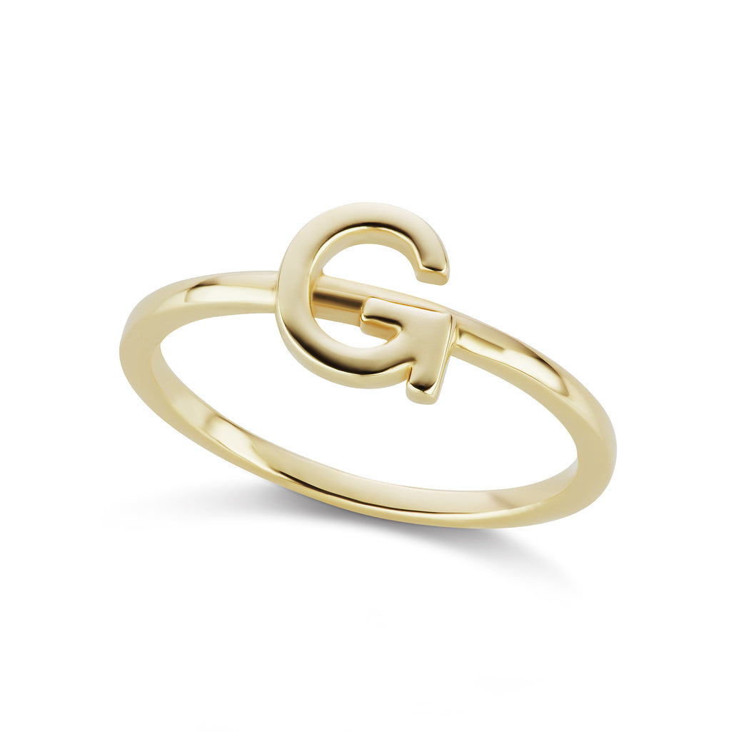 The Gold Initial Ring