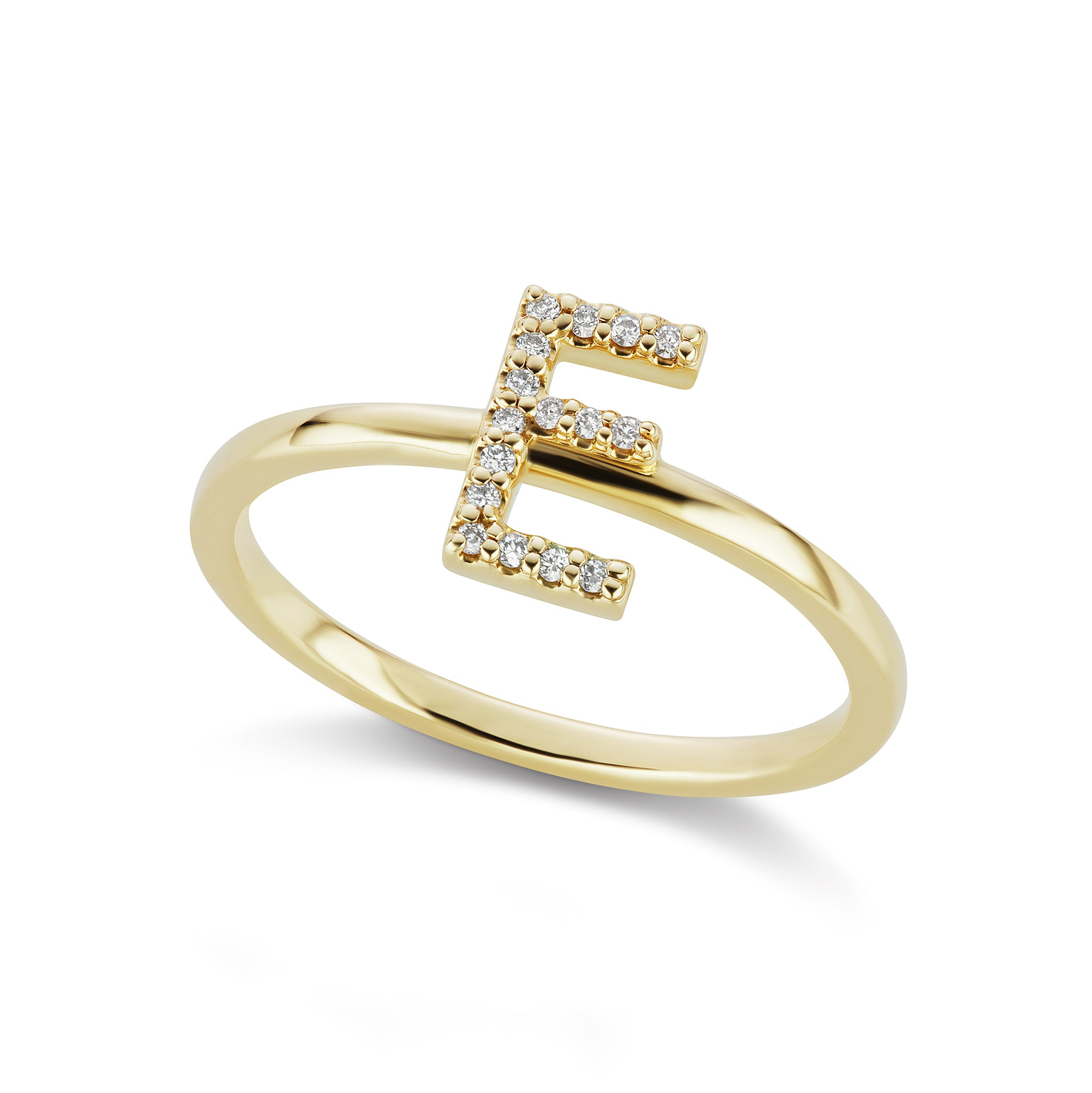The Gold Diamond Initial Ring