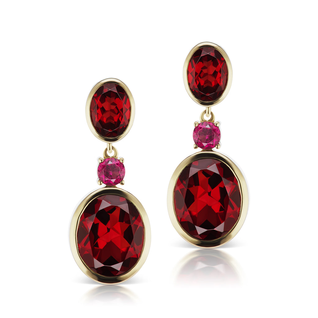 The Garnet Rose Earrings