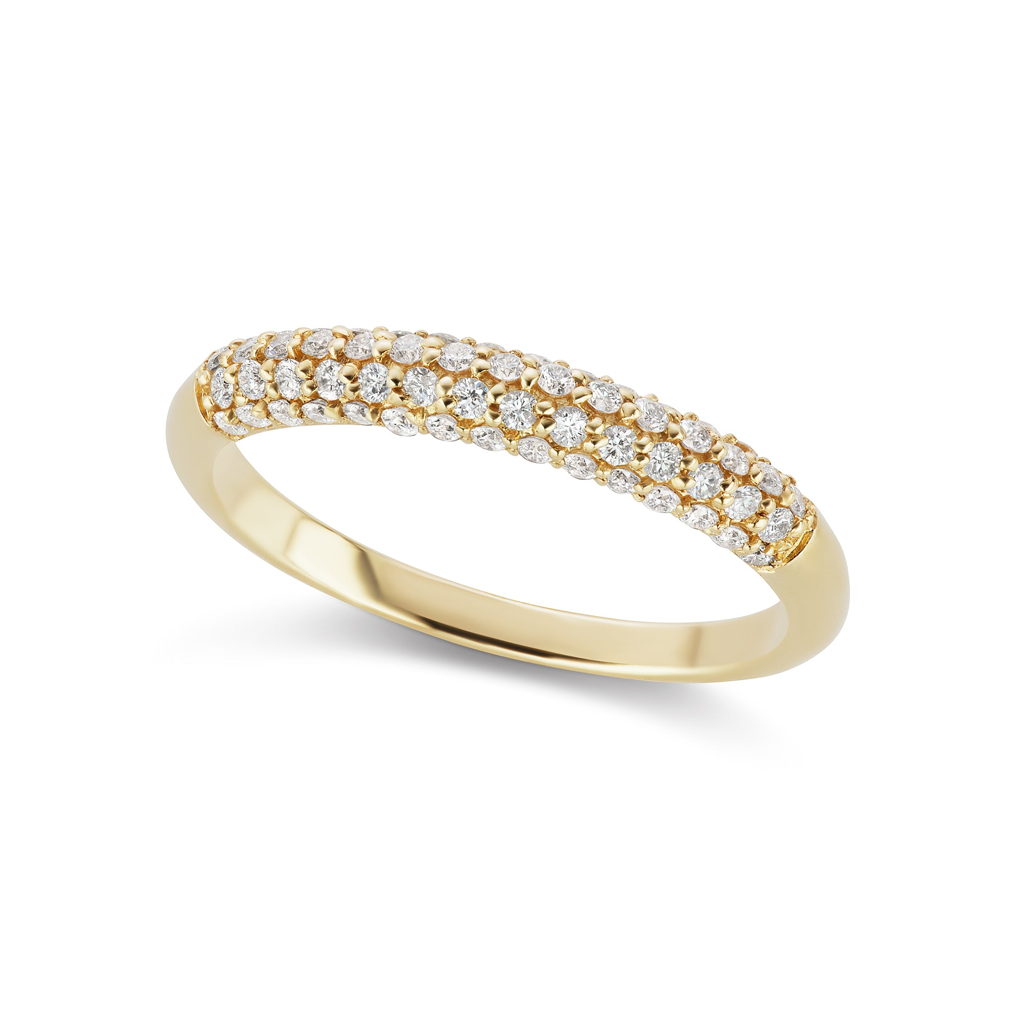 The Gold Diamond Sidekick Ring