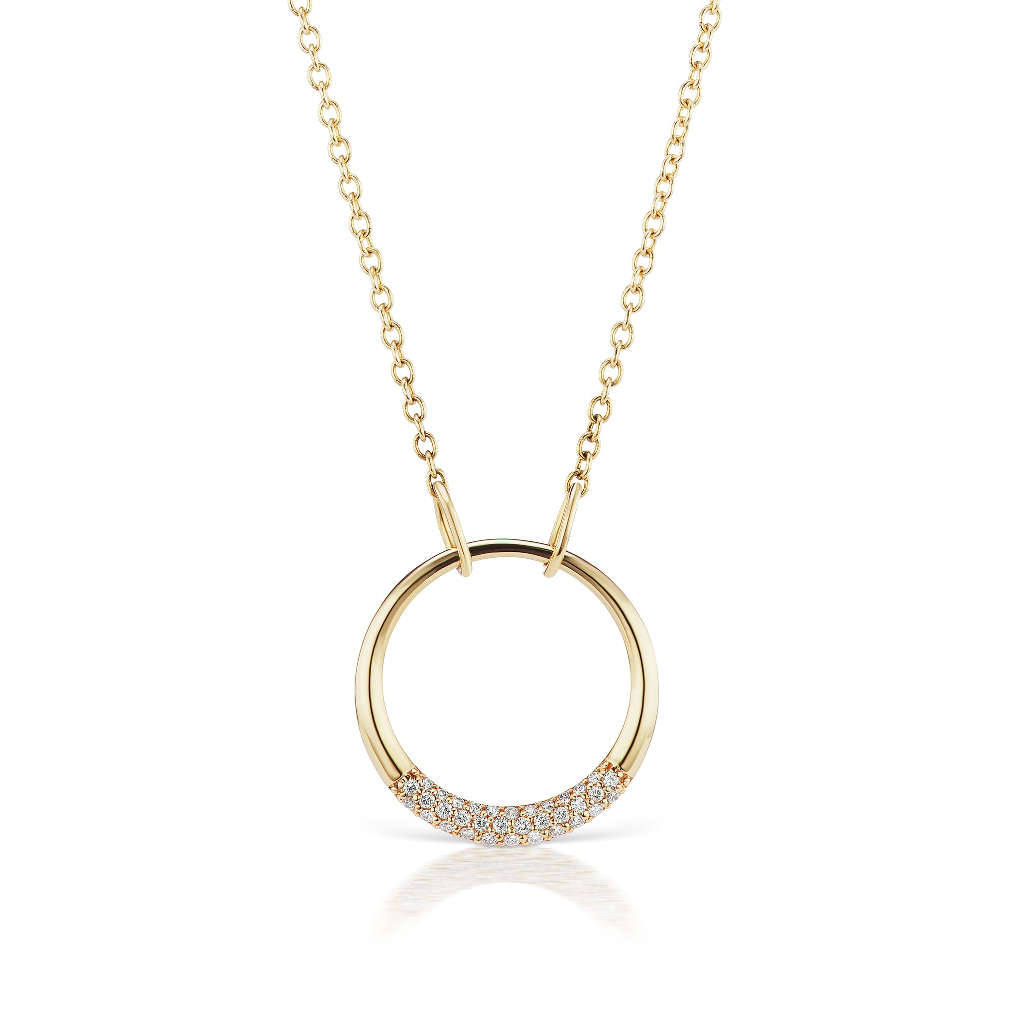 The Gold Petite Diamond Loop Necklace