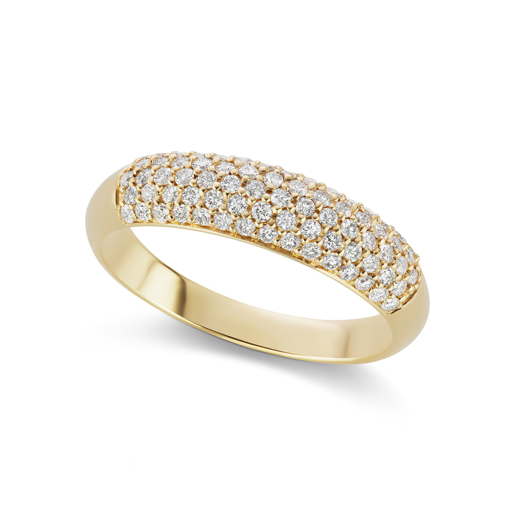 The Gold Diamond Bombe Ring