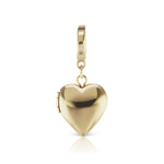 The Gold Heart Locket Charm