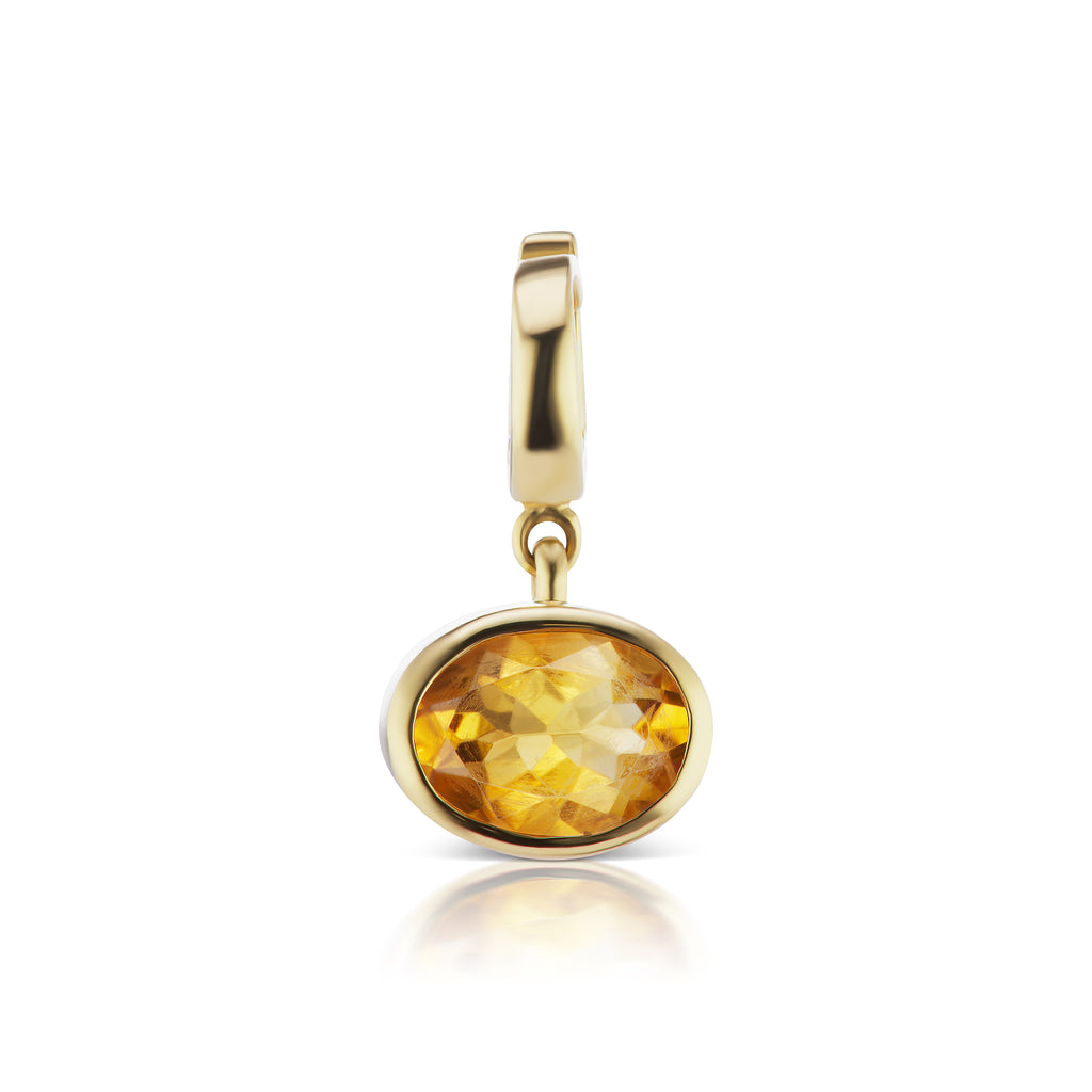 The Citrine Amber Charm