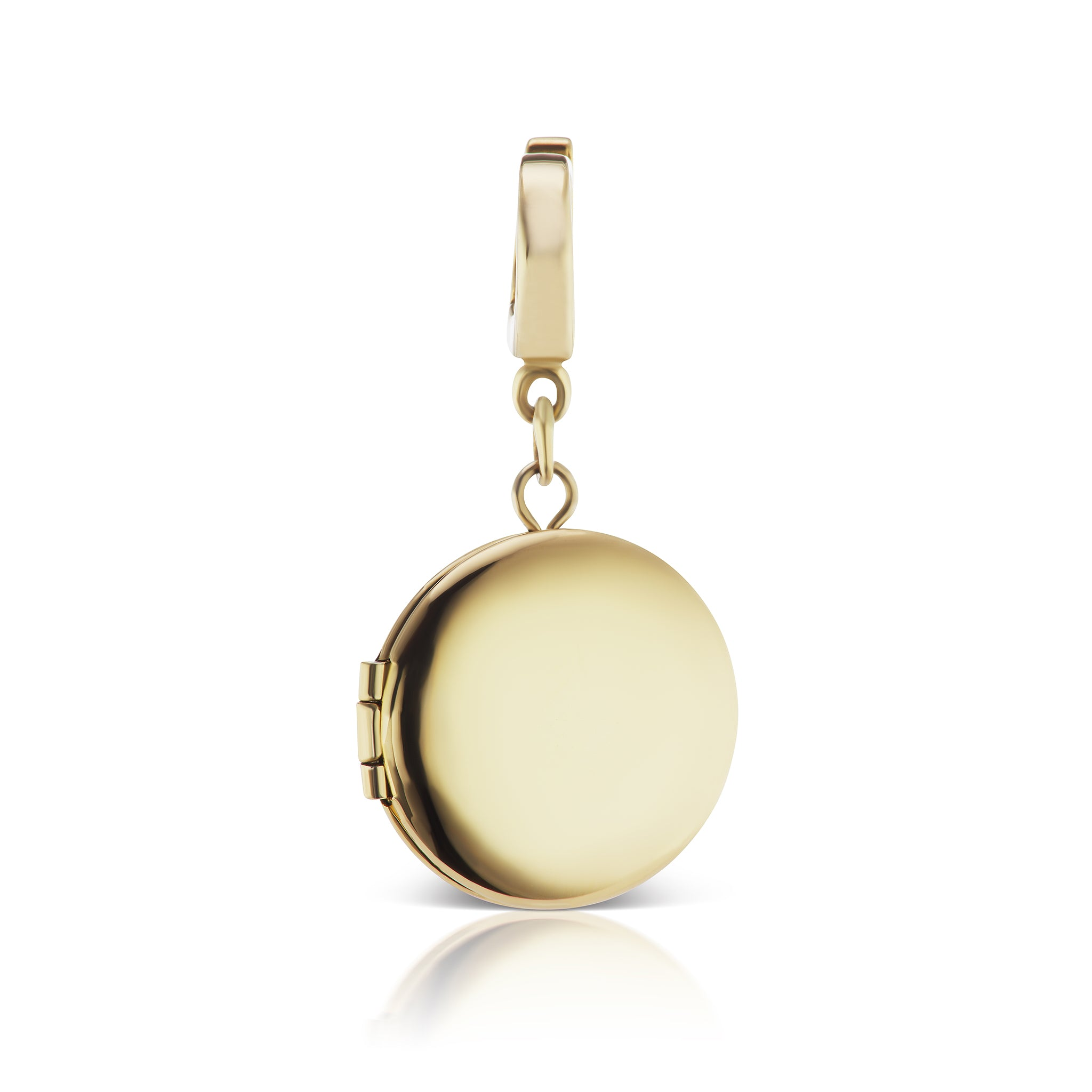 The Gold Circle Locket Charm