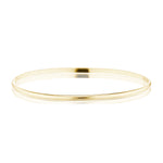The Gold Slim Half Round Bangle