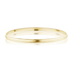 The Gold Half Round Bangle