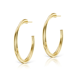 The Gold Layered Statement Hoop