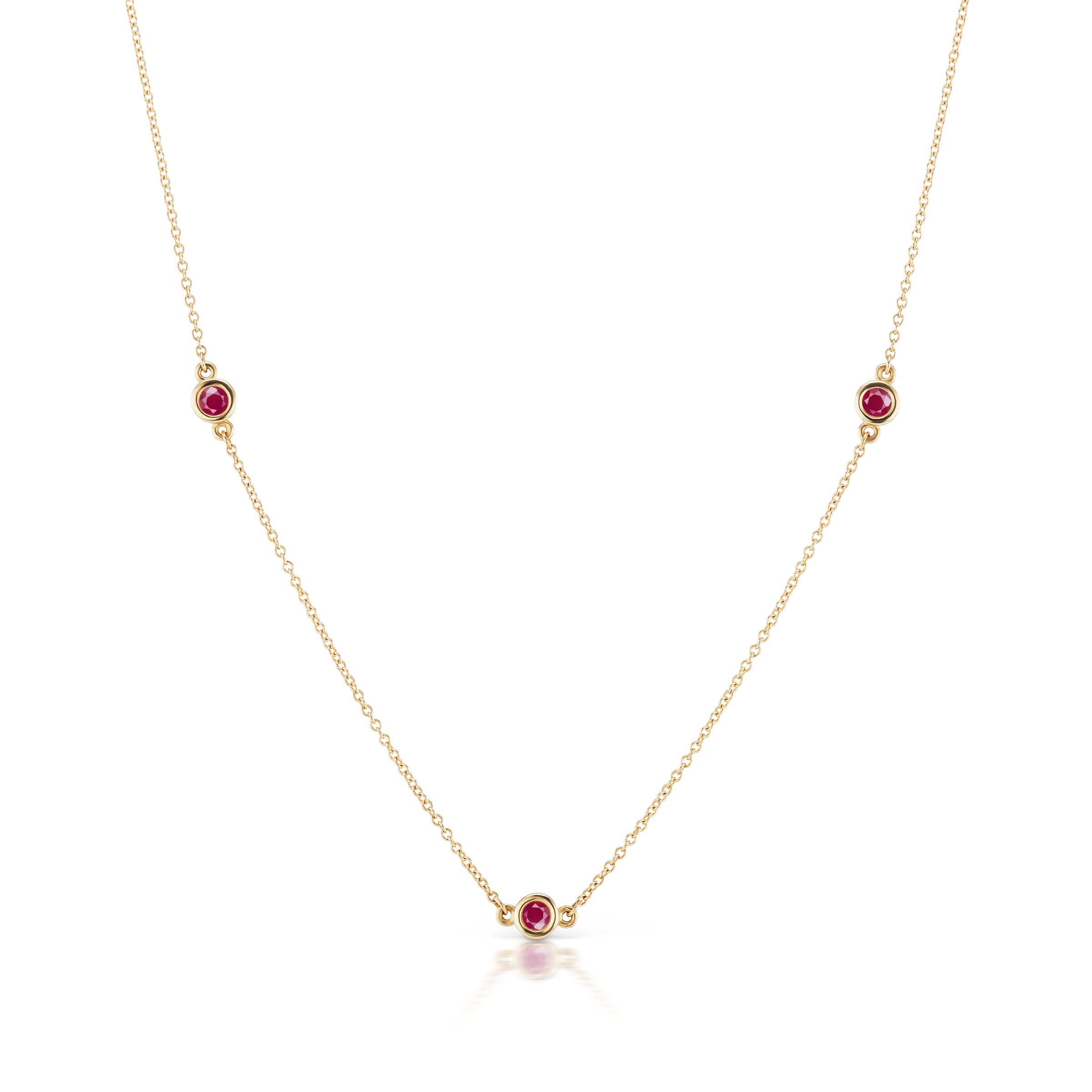 The Gold Three Gemstone Confetti Necklace
