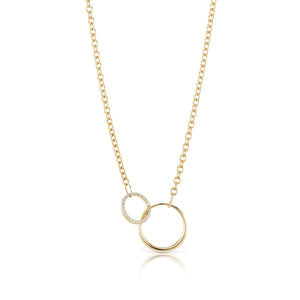 The Gold Diamond Bestie Necklace