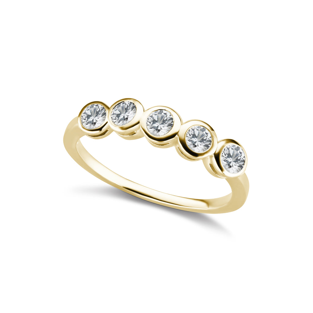 The Gold Five Diamond Confetti Ring