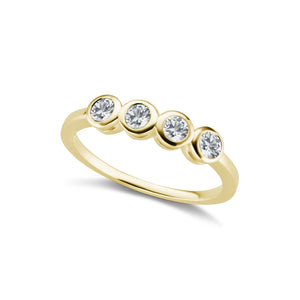 The Gold Four Diamond Confetti Ring