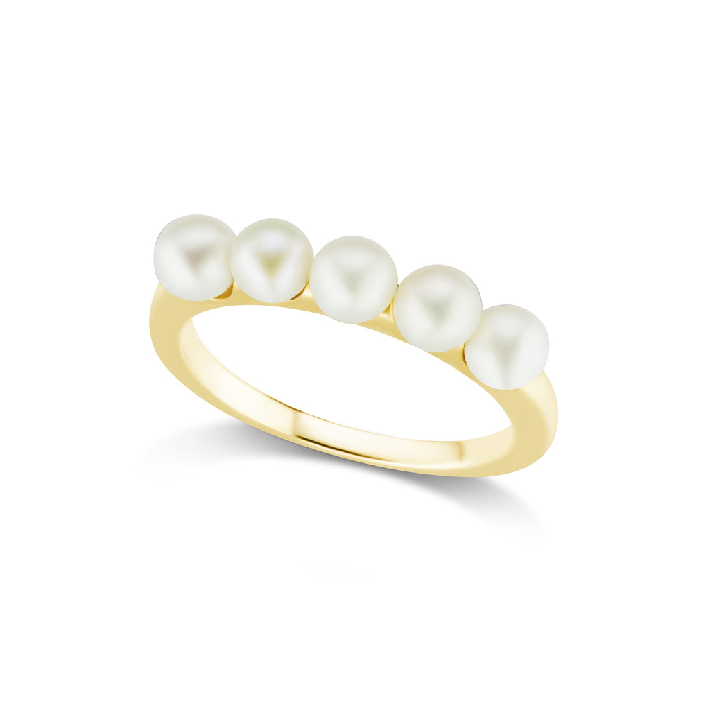 The Gold Multi Pearl Ring