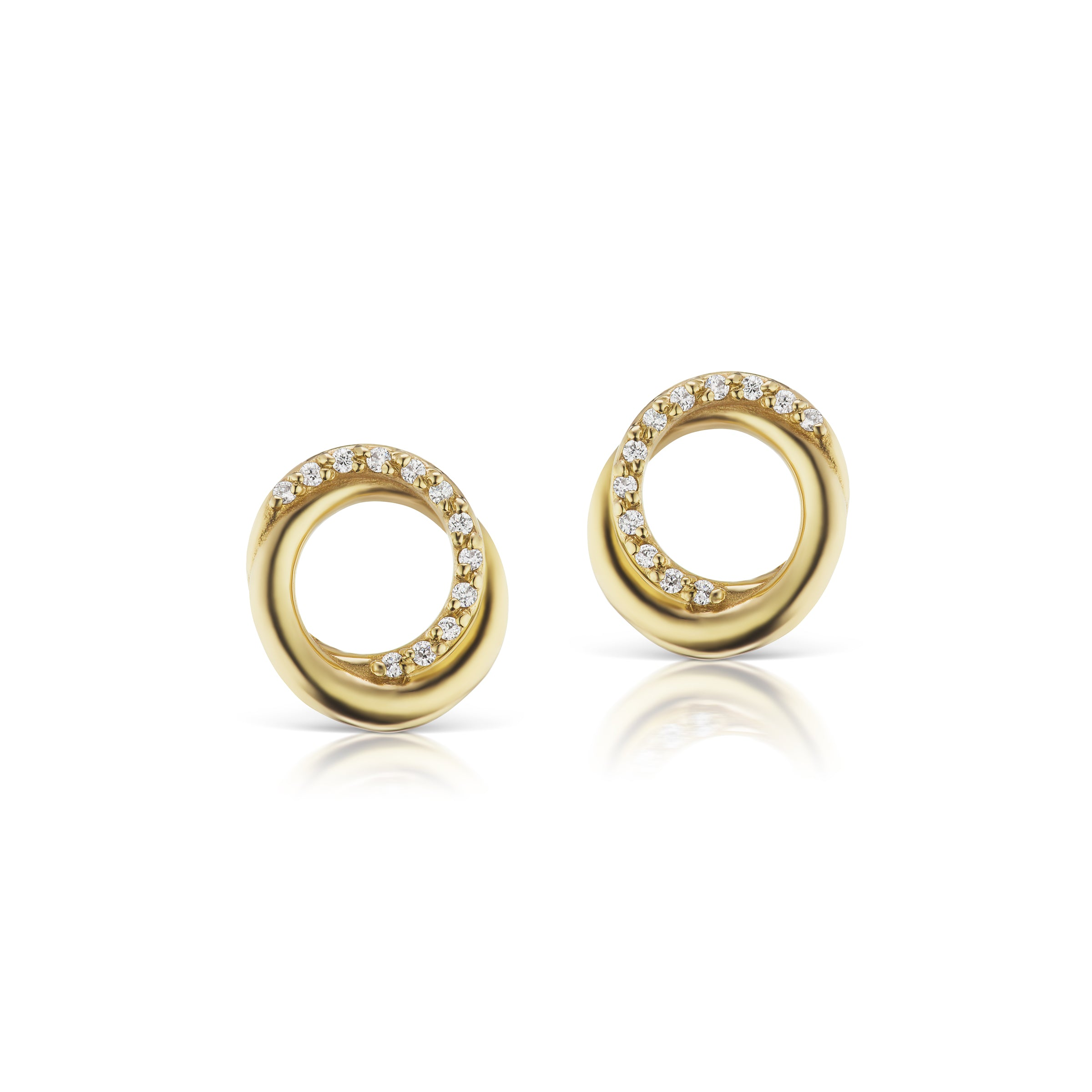 The Gold Diamond Encircle Studs