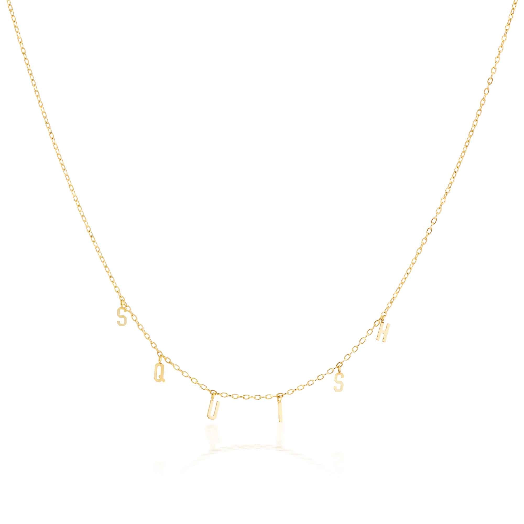 The Yellow Gold Squish Necklace