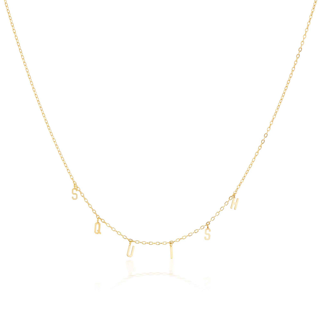 The Gold Spell-It-Out Necklace