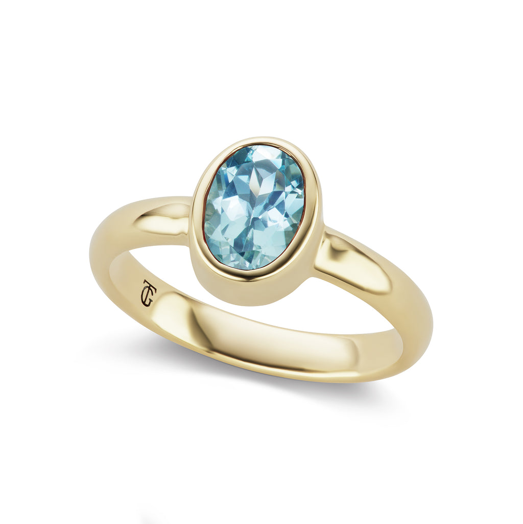 The Aquamarine Marsha Ring