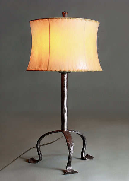 Simply Santa Fe Lamp + Contemporary Sheepskin Shade