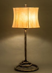 Spiral Lamp + Contemporary Drum Sheepskin Shade