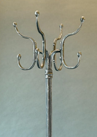 Hand forged wrought iron coat hat stand by Christopher Thomson Ironworks